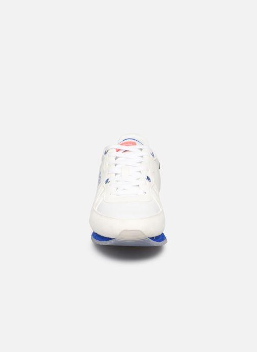 Baskets Pepe jeans Tinker Neon Blanc vue portées chaussures