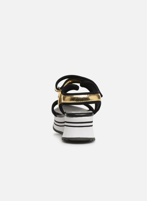 Sandals Pepe jeans Fuji Metal Bronze and Gold view from the right