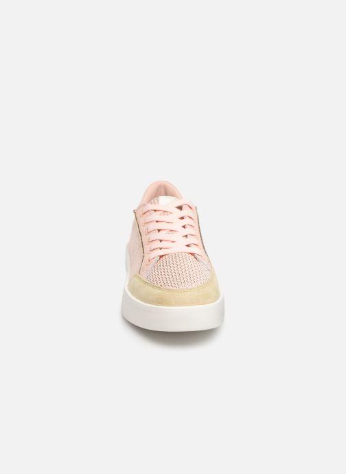 Baskets Pepe jeans Brixton Mesh Sweet Rose vue portées chaussures