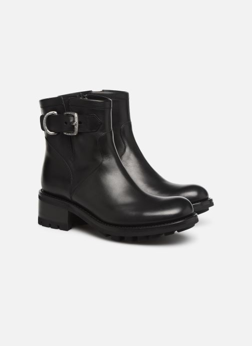 Bottines et boots Free Lance Justy 4 Small Gero Buckle Noir vue 3/4