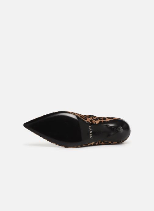 Boots en enkellaarsjes Free Lance Jonie 7 Animal Zip Boot Beige boven