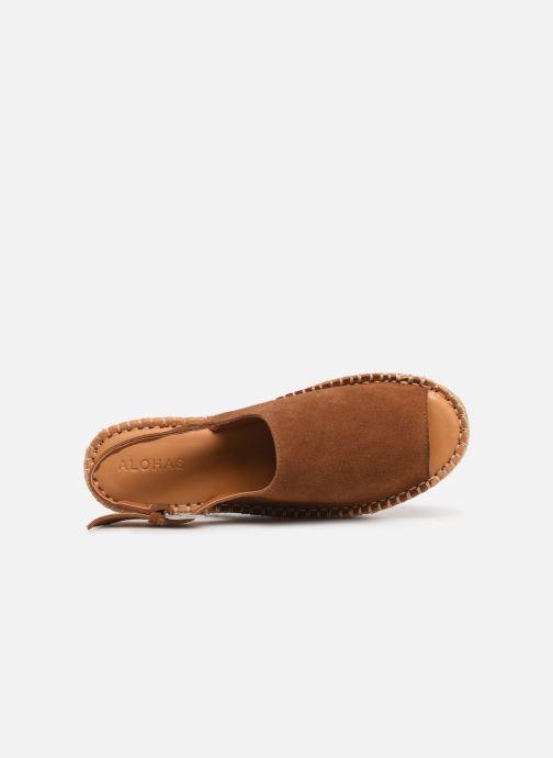 Sandalen Alohas Sandals Back strap Bruin links