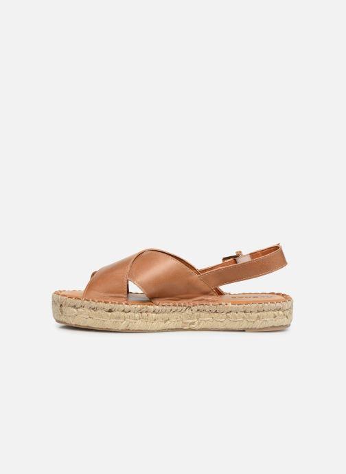 Sandales et nu-pieds Alohas Sandals Crossed platform Marron vue face