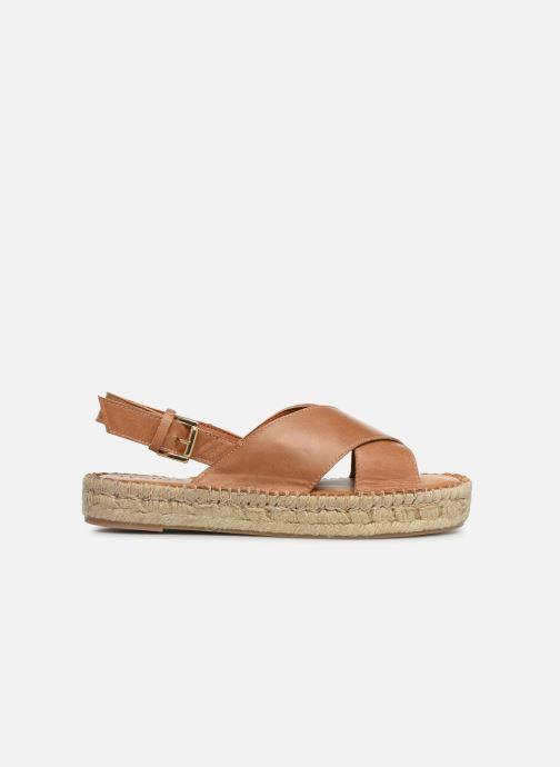 Sandales et nu-pieds Alohas Sandals Crossed platform Marron vue derrière