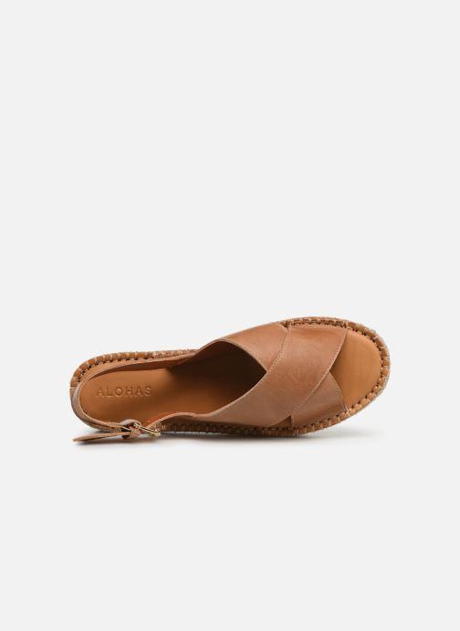 Sandales et nu-pieds Alohas Sandals Crossed platform Marron vue gauche