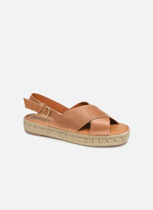Sandales et nu-pieds Alohas Sandals Crossed platform Marron vue détail/paire