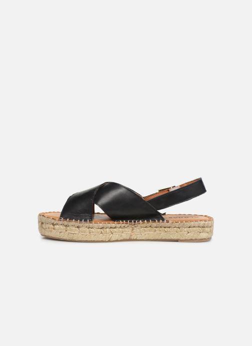 Sandalen Alohas Sandals Crossed platform schwarz ansicht von vorne