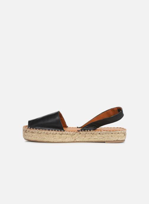 Sandales et nu-pieds Alohas Sandals Ibizas Platform Noir vue face