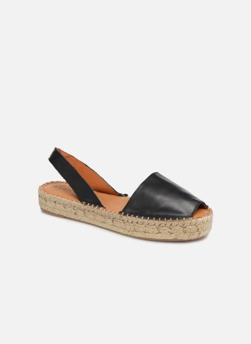 Sandales et nu-pieds Alohas Sandals Ibizas Platform Noir vue détail/paire