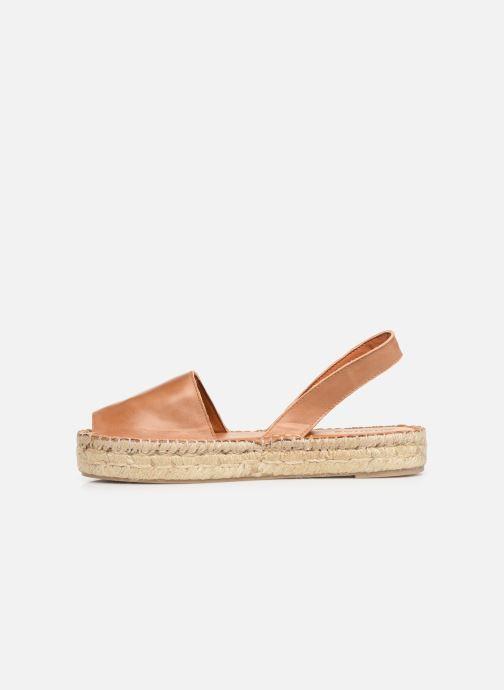 Sandalen Alohas Sandals Ibizas Platform Bruin voorkant