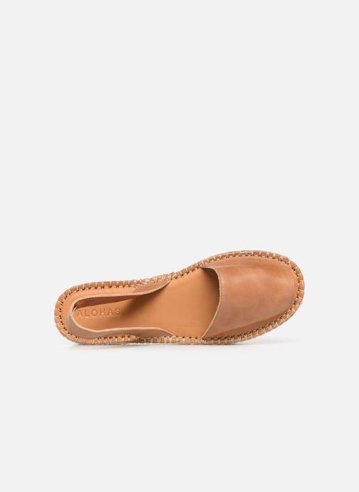 Sandalen Alohas Sandals Ibizas Platform Bruin links