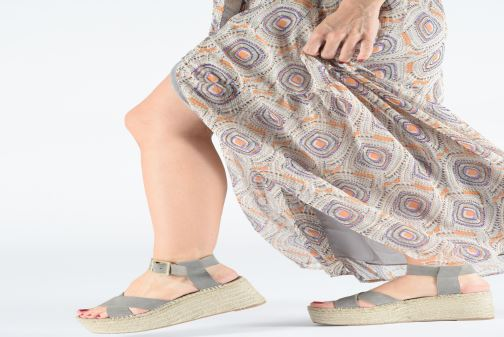 Sandals Alohas Sandals Kailua Grey view from underneath / model view
