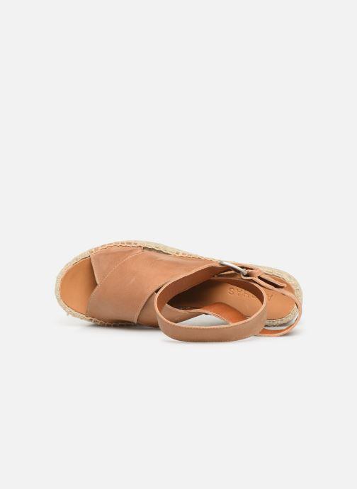 Sandales et nu-pieds Alohas Sandals Vegas Marron vue gauche