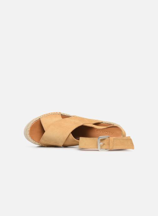 Sandales et nu-pieds Alohas Sandals Vegas Jaune vue gauche