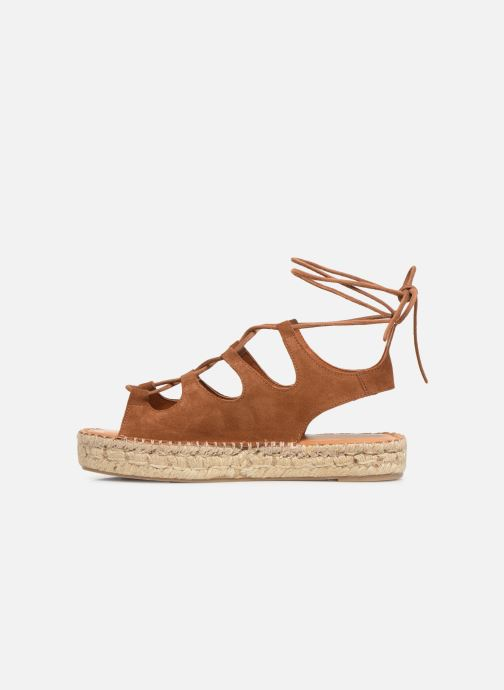Sandales et nu-pieds Alohas Sandals Gladiator Marron vue face