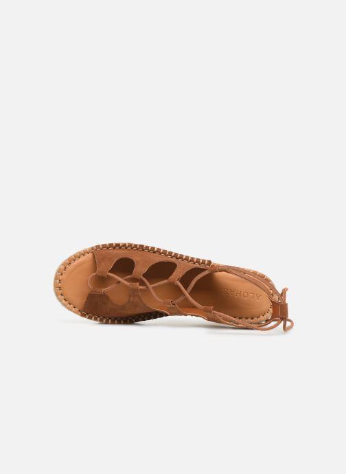 Sandales et nu-pieds Alohas Sandals Gladiator Marron vue gauche