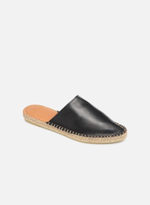 Wedges Alohas Sandals Babucha Zwart detail