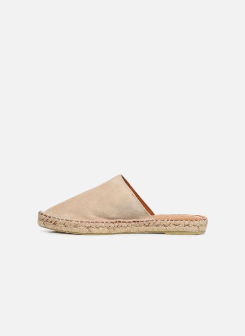 Wedges Alohas Sandals Babucha Beige voorkant