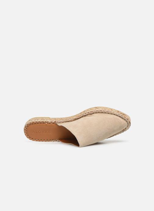 Mules et sabots Alohas Sandals Babucha Beige vue gauche