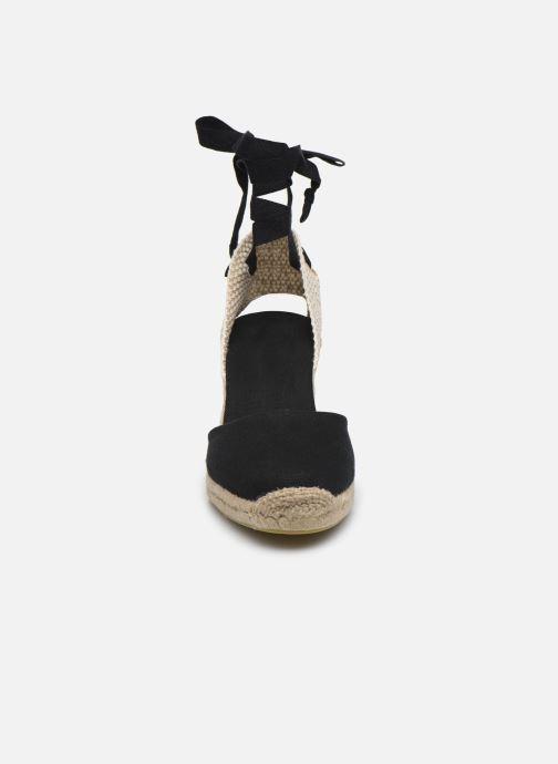 Scarpe di corda Alohas Sandals Clara by day Nero modello indossato