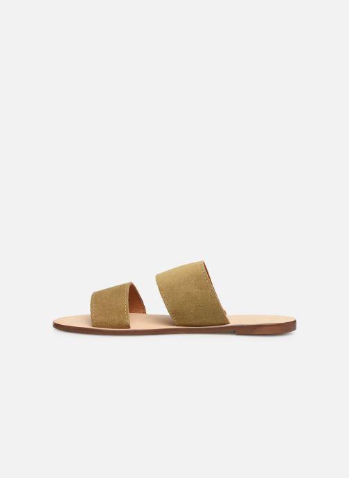 Zuecos Alohas Sandals Alice Verde vista de frente