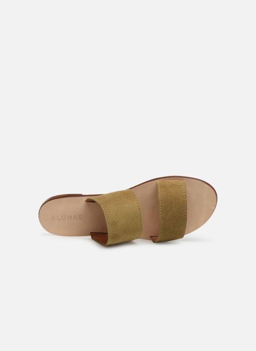 Mules et sabots Alohas Sandals Alice Vert vue gauche