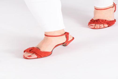 Sandales et nu-pieds Anonymous Copenhagen Aliza Rouge vue bas / vue portée sac
