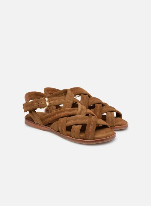 Sandales et nu-pieds Anonymous Copenhagen Betty Marron vue 3/4