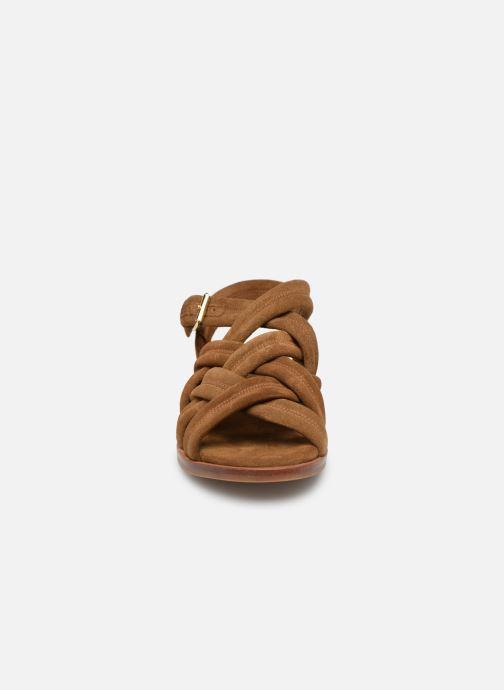 Sandales et nu-pieds Anonymous Copenhagen Betty Marron vue portées chaussures