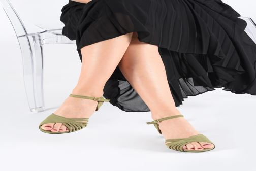 Sandals Anonymous Copenhagen Hermine Green view from underneath / model view