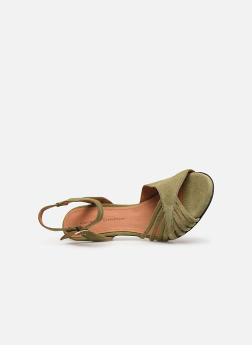 Sandals Anonymous Copenhagen Hermine Green view from the left