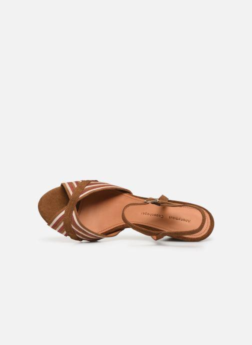 Sandales et nu-pieds Anonymous Copenhagen Kristine Marron vue gauche