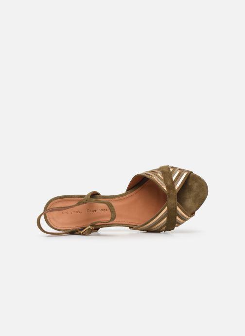 Sandales et nu-pieds Anonymous Copenhagen Kristine Vert vue gauche