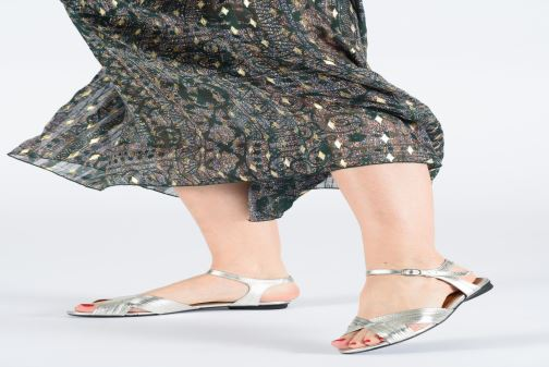 Sandals Anonymous Copenhagen Niabi Silver view from underneath / model view