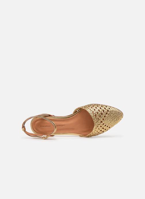 Sandales et nu-pieds Anonymous Copenhagen Senara Or et bronze vue gauche