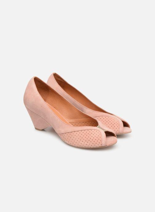 High heels Anonymous Copenhagen Tiffany metallic Pink 3/4 view