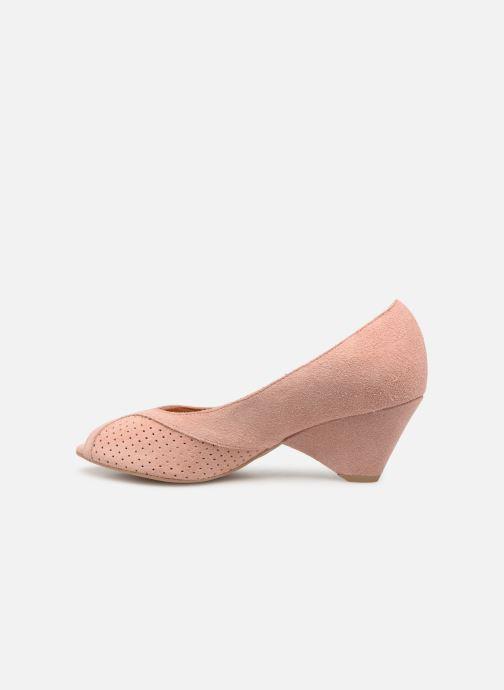 High heels Anonymous Copenhagen Tiffany metallic Pink front view