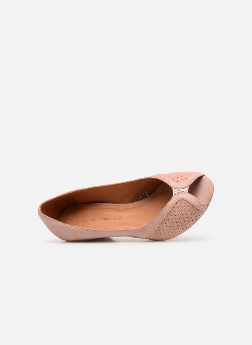 Zapatos de tacón Anonymous Copenhagen Tiffany metallic Rosa vista lateral izquierda