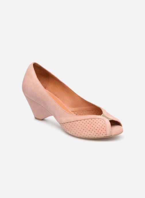 Høje hæle Anonymous Copenhagen Tiffany metallic Pink detaljeret billede af skoene
