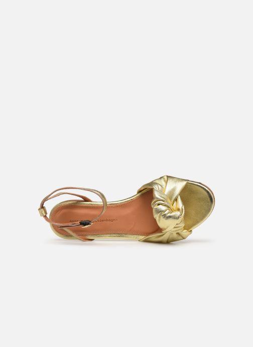 Sandali e scarpe aperte Anonymous Copenhagen Zally Oro e bronzo immagine sinistra
