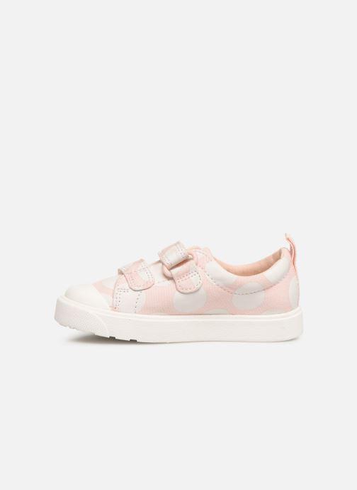 Sneakers Clarks City FlareLo T Roze voorkant