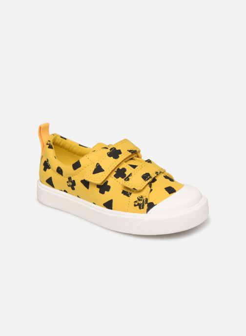 Sneakers Clarks City FlareLo T Gul detaljeret billede af skoene