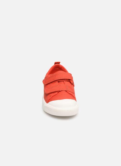 Baskets Clarks City FlareLo T Orange vue portées chaussures