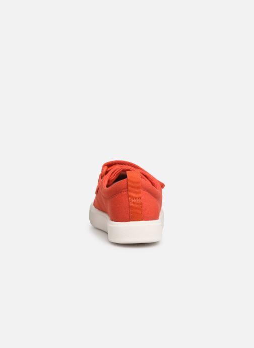 Trainers Clarks City FlareLo T Orange view from the right
