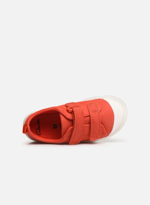 Trainers Clarks City FlareLo T Orange view from the left