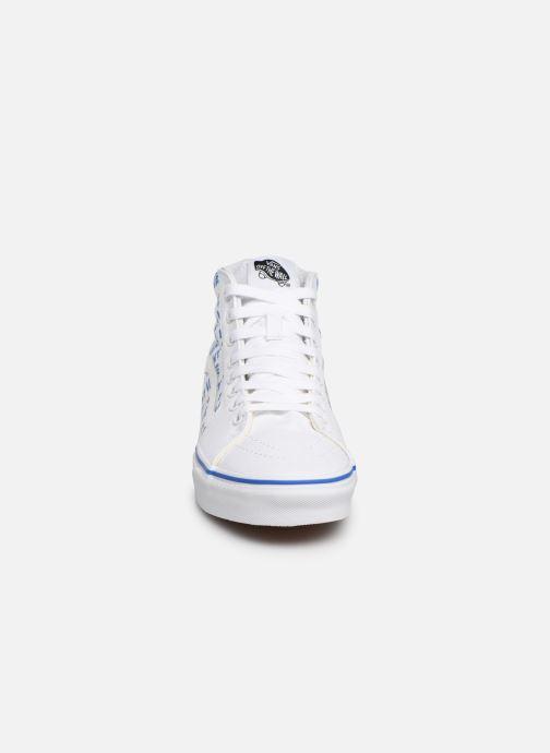 Baskets Vans SK8-Hi W Blanc vue portées chaussures