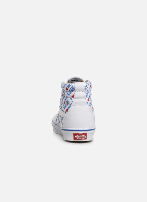 Baskets Vans SK8-Hi W Blanc vue droite