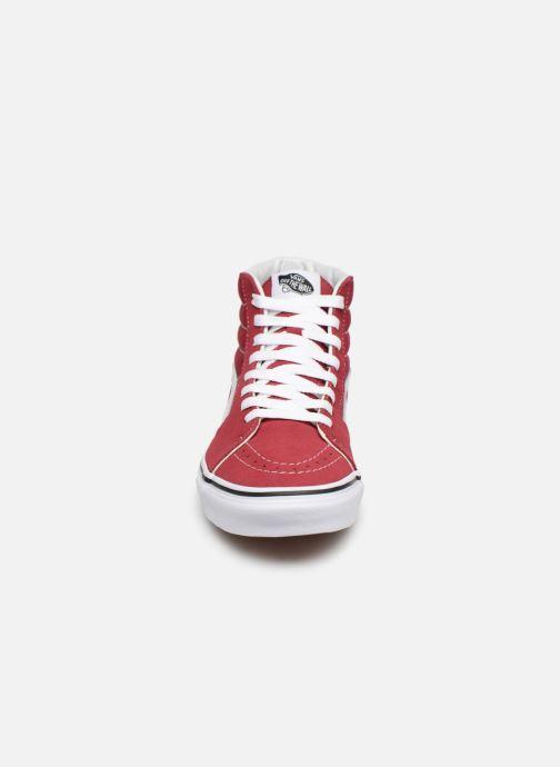 Sneaker Vans SK8-Hi W weinrot schuhe getragen