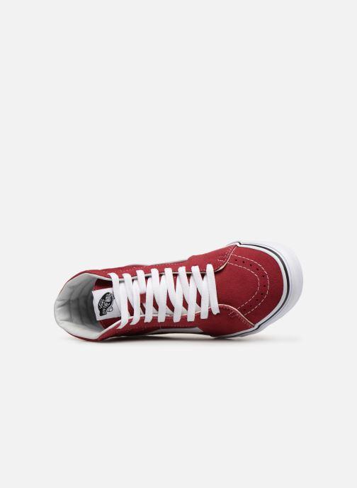 Sneaker Vans SK8-Hi W weinrot ansicht von links