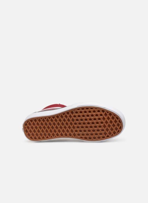 Sneaker Vans SK8-Hi W weinrot ansicht von oben